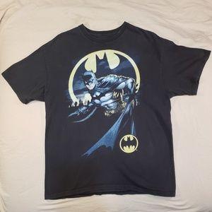 Vintage 90's Batman T-Shirt Black Logo Large